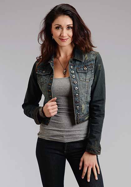 Stetson Ladies Fall III Overdye Denim Shrunken Jacket