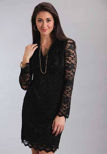 Stetson Ladies Fall III Stretch Lace V Neck Dress