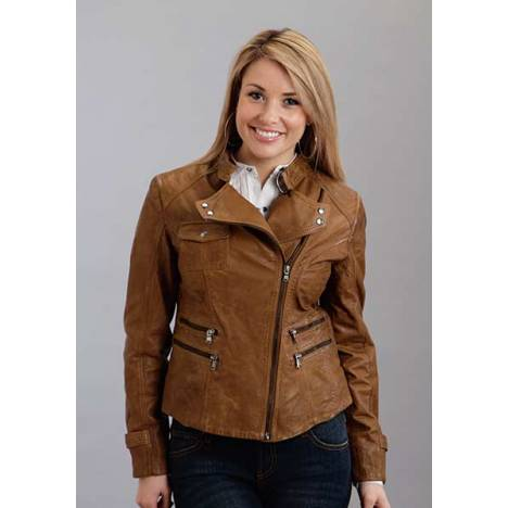 Stetson Ladies Multi Zipper Pockets Moto Jacket