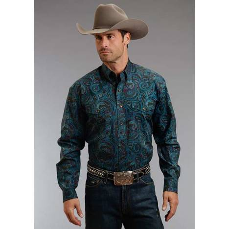 Stetson Mens Fall II Durango Paisley Long Sleeve Button Shirt