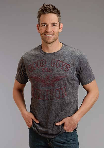 Stetson Mens Good Guys Wear Stetson Scren Print T-Shirt