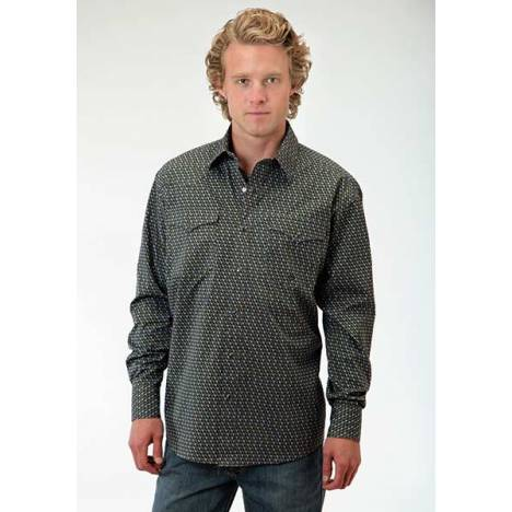 Roper Mens Amarillo Stacked Diamonds Long Sleeve Snap Shirt