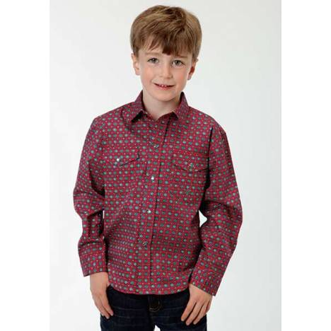Roper Boys Diamond Stop Long Sleeve Snap Shirt