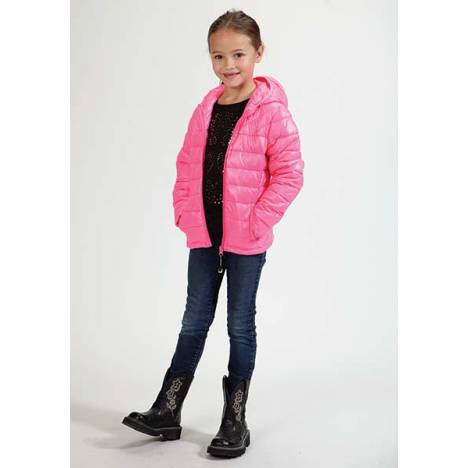 Roper Girls Down Like Polyfil Hooded Jacket - Pink