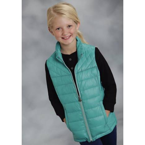 Roper Girls Parachute Crushable Down Vest - Blue
