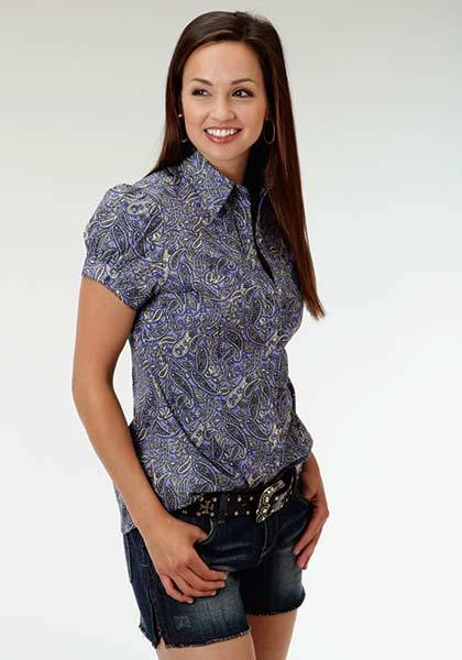 Roper Ladies Bridle Path Short Sleeve Snap Shirt