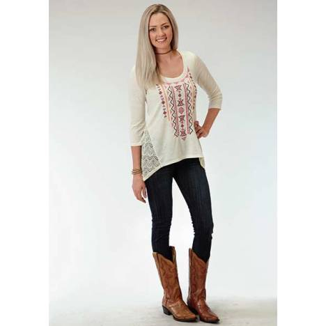 Roper Ladies Ity Lace Side Panels Jersey Tunic