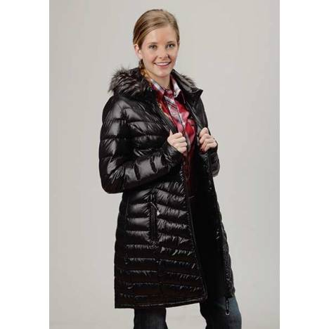 Roper Ladies Down And Feather Filled Detachable Hood Long Jacket