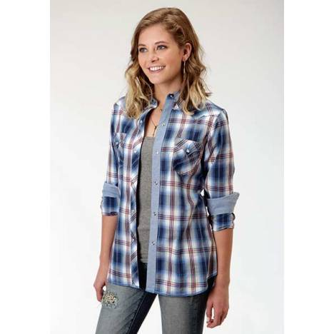Roper Ladies Marina Dobby Long Sleeve Snap Shirt