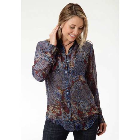 Roper Ladies Paisley Collage Print Blouse