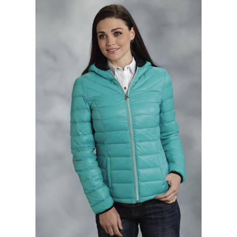 Roper Ladies Parachute Crushable Lightweight Hooded Jacket - Blue