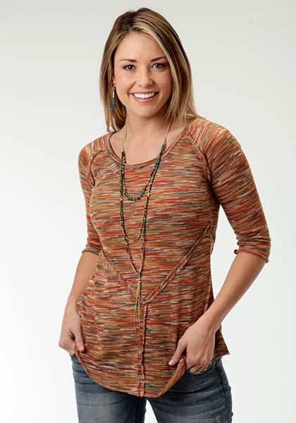 Roper Ladies Spice Girl Spaced Dyed Sweater Jersey Top