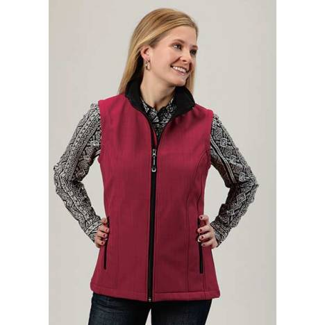 Roper Ladies Technical Lightweight Textured Softshell Vest - Pink
