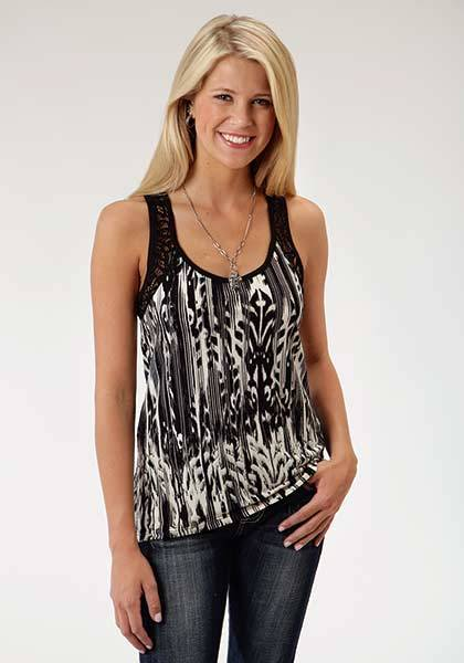Roper Ladies Wildwood Bold Allover Print Tank Top