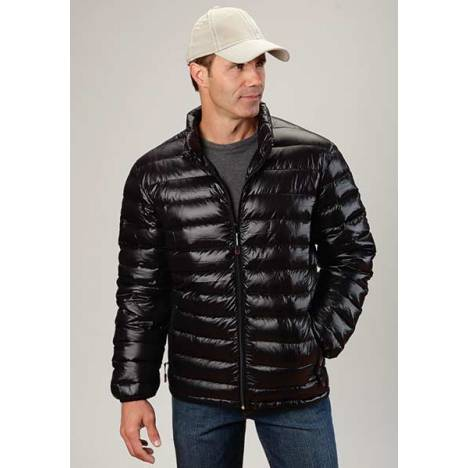 Roper Mens Lighweight Parachute Quilted Jacket - Black