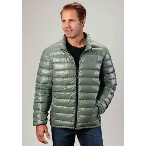 Roper Mens Lighweight Parachute Quilted Jacket - Green