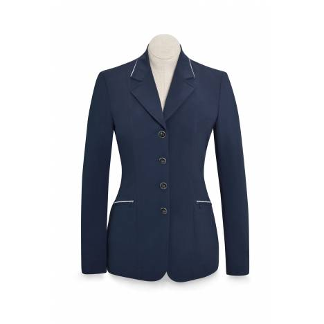 RJ Classics Xtreme Orange Label Galway Coat - Ladies - Navy Silver Piping