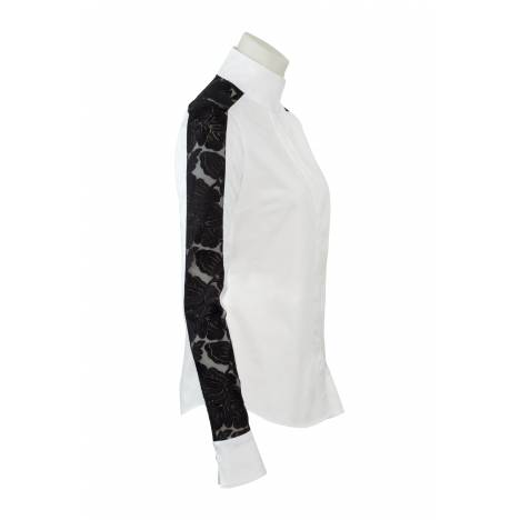 RJ Classics Diamond Rose Show Shirt - Ladies - White/Black Lace