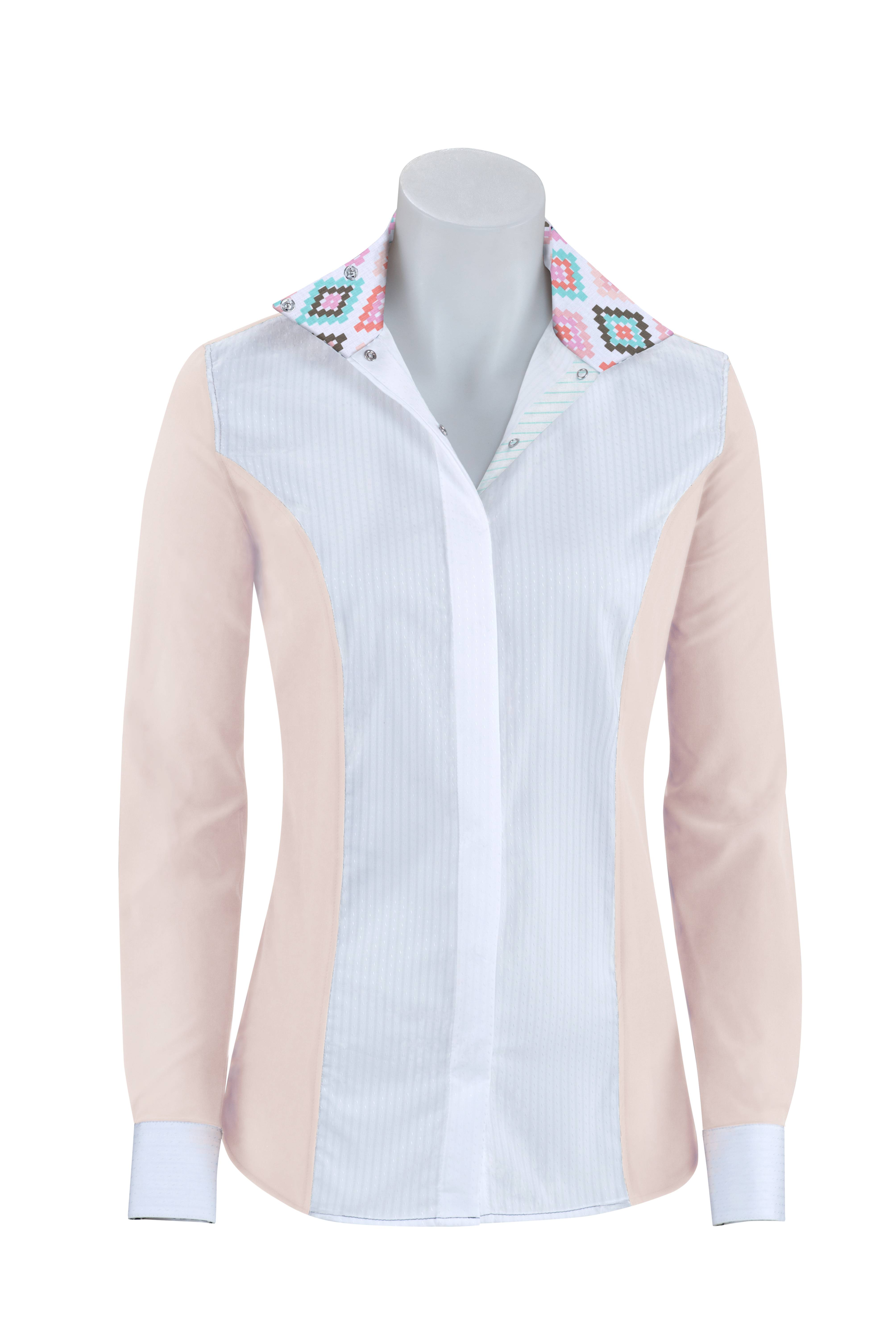 RJ Classics Prestige Windsor Show Shirt - Ladies - Blush/Aztec
