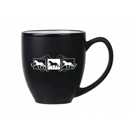 Kelley Dressage Box Scroll Design Black/White Mug