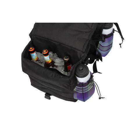Kensington All Around Thermal Saddle Bag with Bottles - Black with Lavender Mint