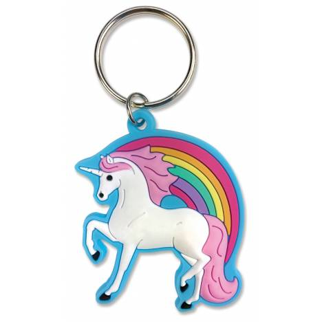 Kelley Soft Rainbow Unicorn Keychain
