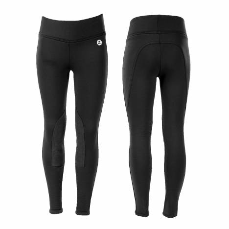 Horze Spirit Active Knee Patch Winter Tights - Kids