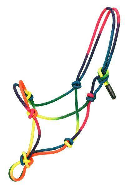 Tough-1 Multi-Colored Rope Halter