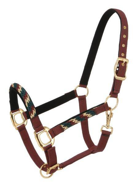 Tough-1 Nylon Halters with Poly Rope Overlay