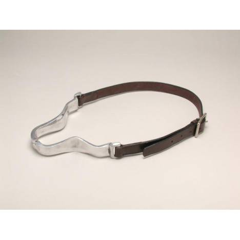 Tough-1 Aluminum Hinge Cribbing Collar with Leather Strap