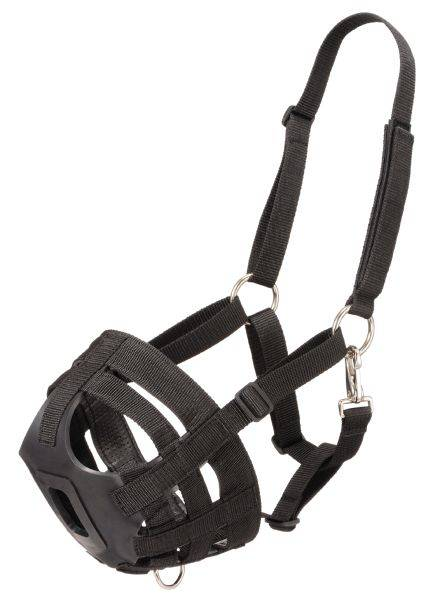 Outlet - Tough-1 Easy Breathe Poly/Nylon Grazing Muzzle, Yearling, Black