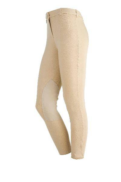On Course Ladies Cotton Natural Riding Breeches