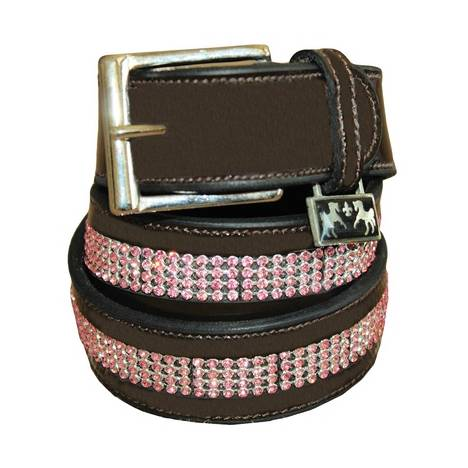 Equine Couture Bling Leather Belt -Ladies