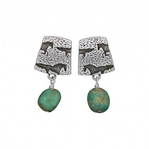 Montana Silversmiths Run Free Turquoise Earrings