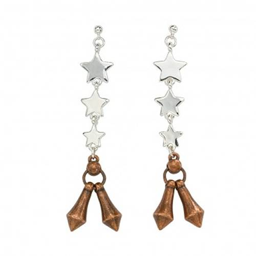 Montana Silversmiths Three Star Jingle Dangle Earrings