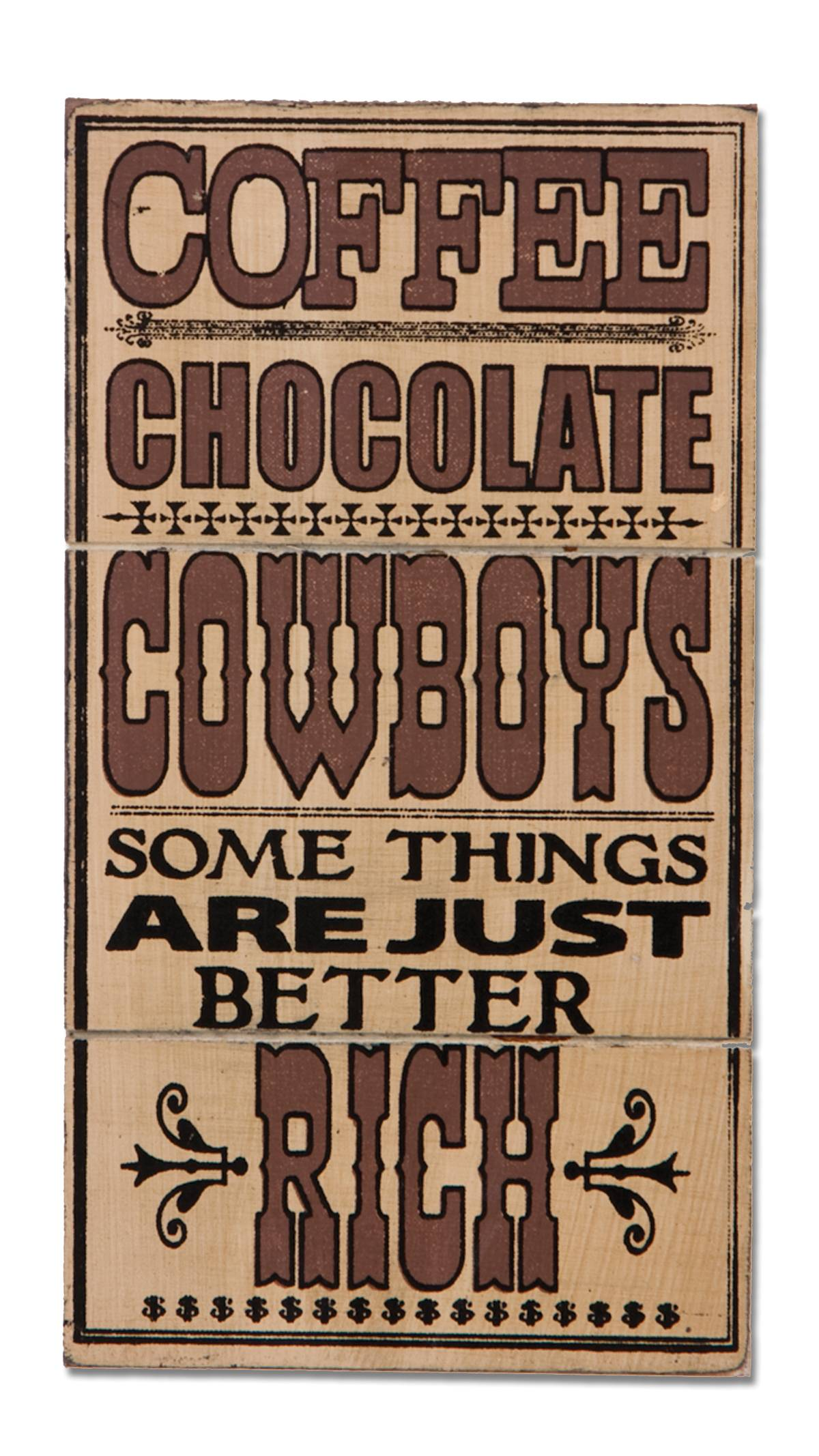 Montana Silversmiths Magnet - Coffee Chocolate Cowboys Sign