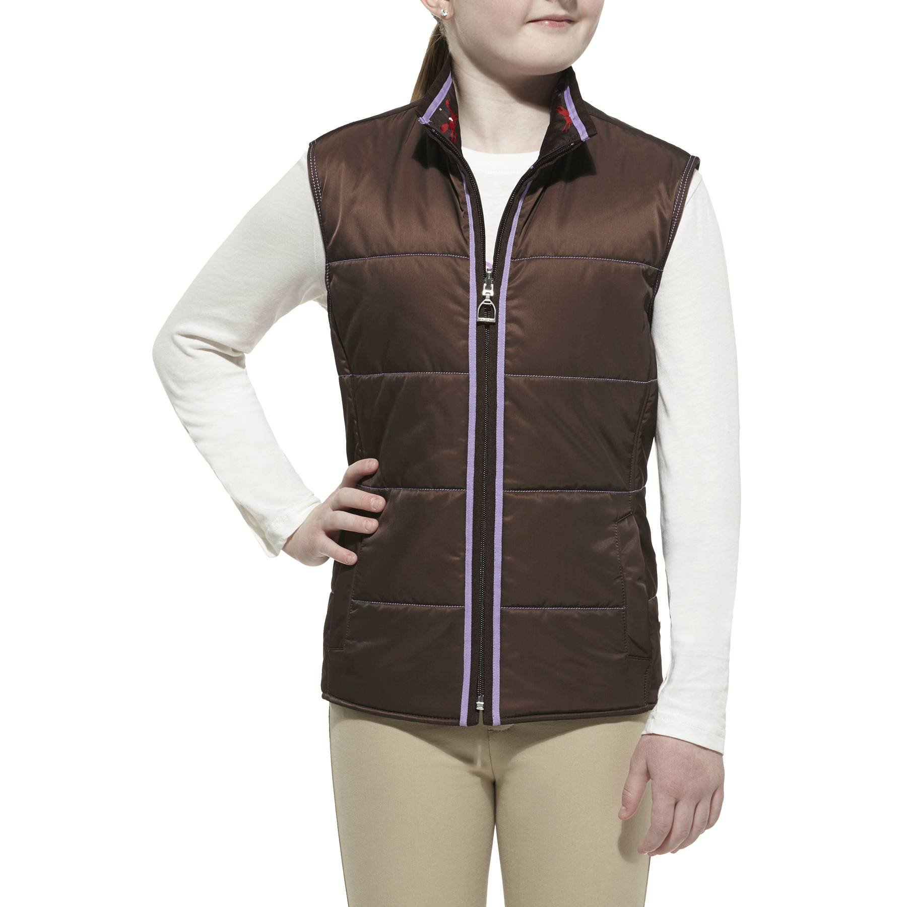 Ariat Laurel Vest - Kids, Coffee Bean