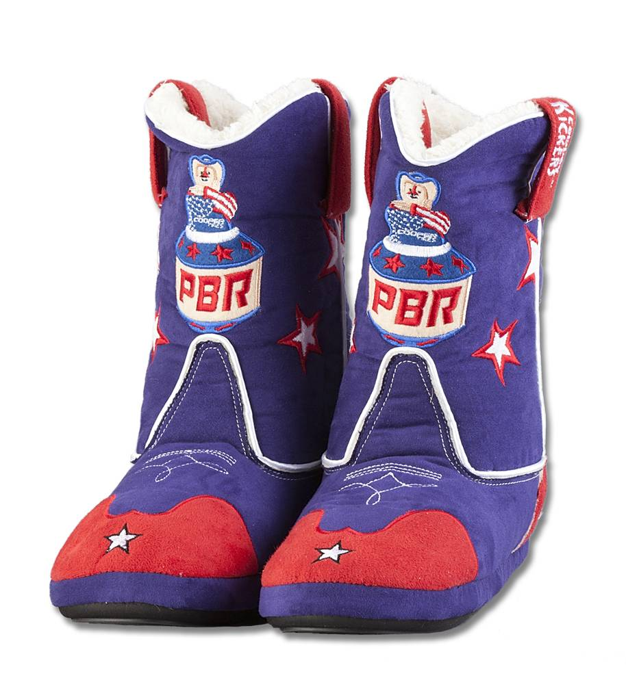 Cowboy Kickers PBR Adult Slippers