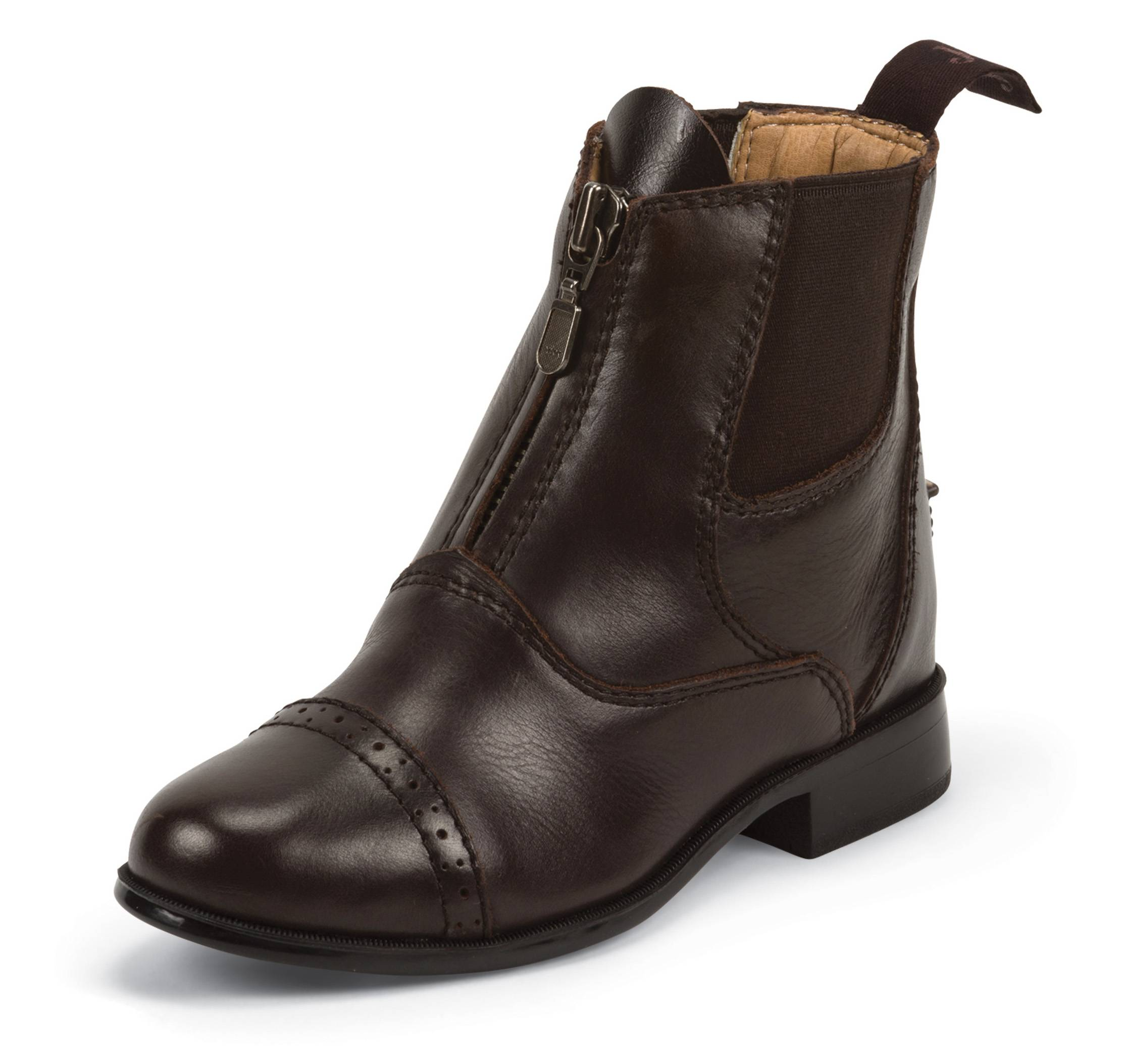 Justin Zip Paddock Boots - Kids - Chocolate Brown