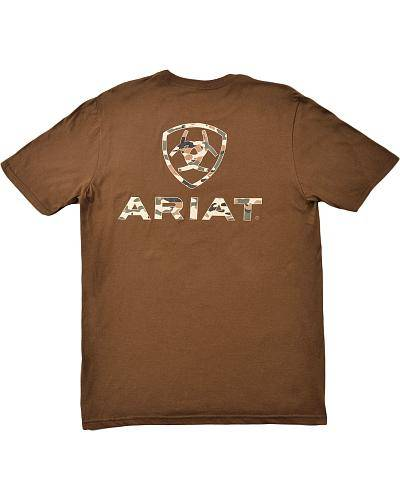 Ariat Kamo Short Sleeve Tee - Mens - Brown