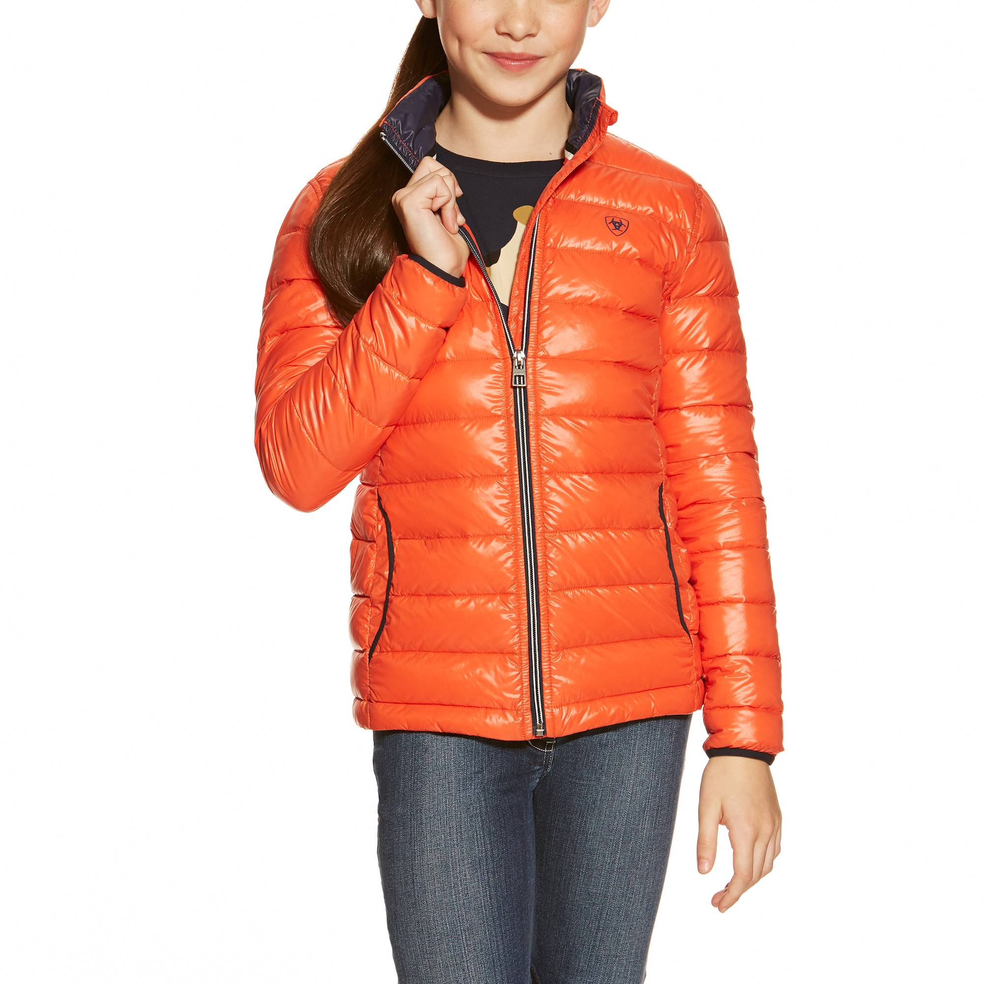 Ariat Ideal Jacket - Girls - Red Coral