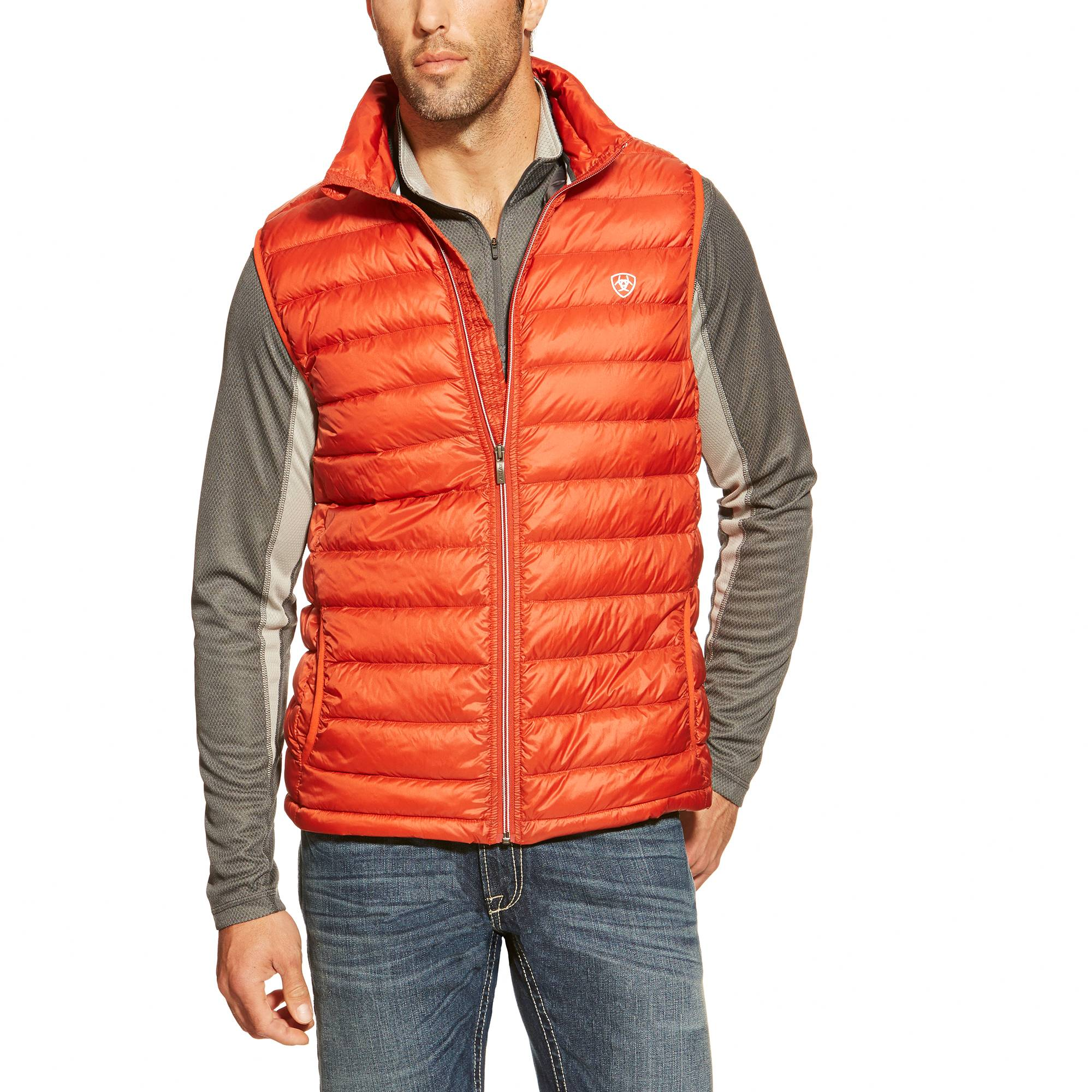 Ariat Ideal Down Vest - Mens - Desert Red