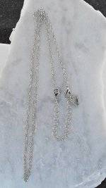 Finishing Touch Adjustable Oval Link Necklace with Lobster Claw