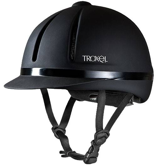 Troxel Legacy GPS II Riding Helmet- Black Duratec