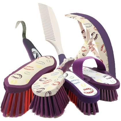 Equestria Sport HorseShoes Grooming Set