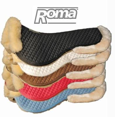 Roma Sheep Half Pad with Rolled Edges