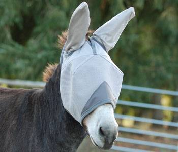 Outlet - Crusader Fly Mask - Mule Standard With Ears, Foal, Grey