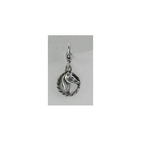 Barbary Horse Head In Rope Charm