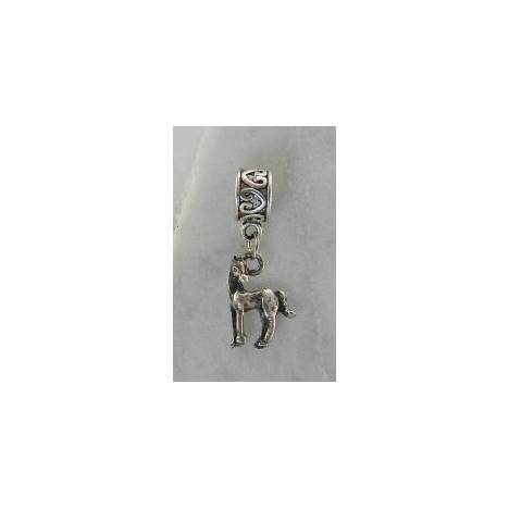 Joppa Horse with Head Turned Dangle Bead