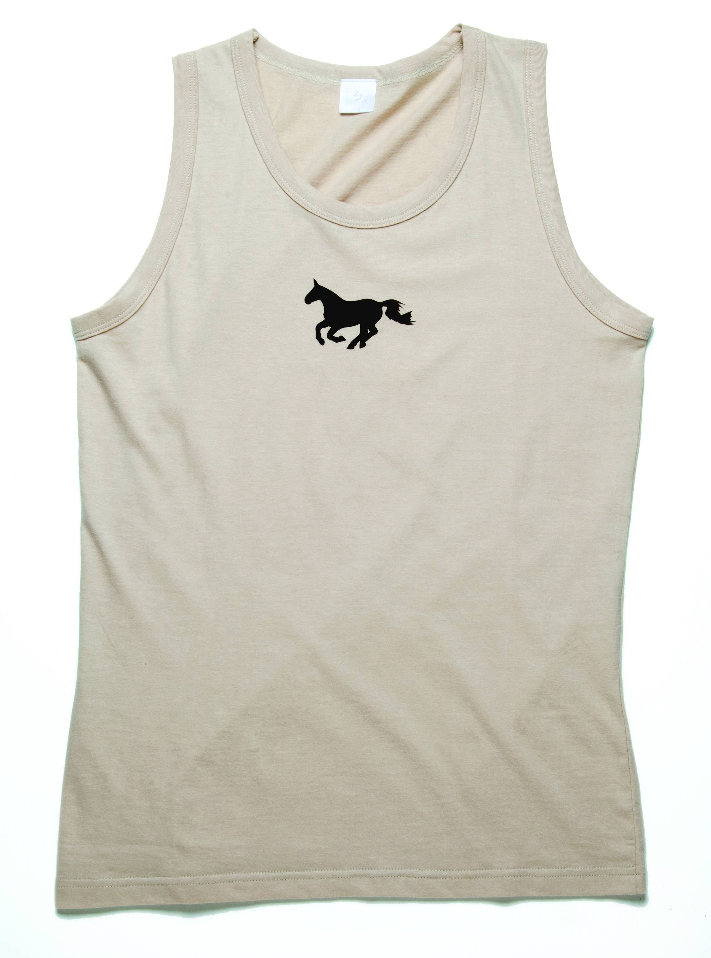 Kelley Horses N Chocolate Tank Top - Ladies